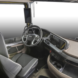 High-class dashboard with 12 + 10 inch displays in New Generation DAF trucks