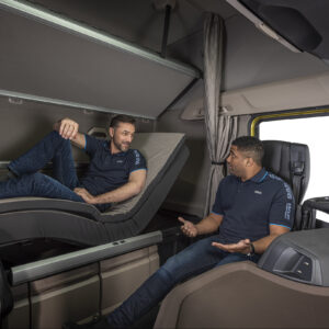 Swivel chairs and relax bed for unmatched driver comfort in New Generation DAF trucks